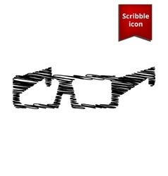 Tie icon with pen effect vector
