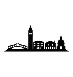 Venice skyline vector