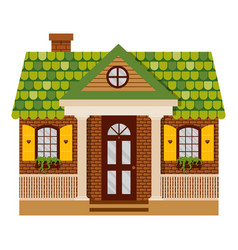 with country house in flat vector image