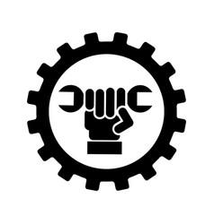 wrench mechanic tool icon vector image
