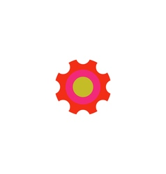Roller bearing icon vector