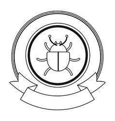 Bug of security system design vector