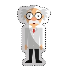 Scientific comic character icon vector