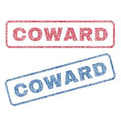 Coward textile stamps vector
