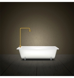 Bath on grey background vector