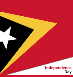 East timor independence day vector