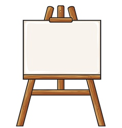 Canvas on an easel vector