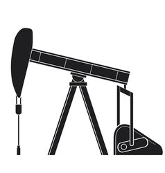 Silhouette of oil pump jack vector