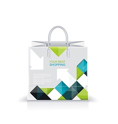 white shopping paper or plastic bag vector image