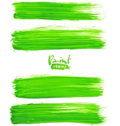 Bright green acrylic brush strokes vector