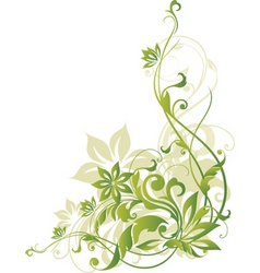 Floral border element vector