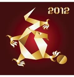 dragon origami 2012 vector image
