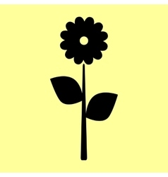 Flower sign flat style icon vector
