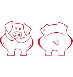 Cartoon Funny Pig vector image