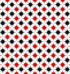 Black red seamless star pattern background vector