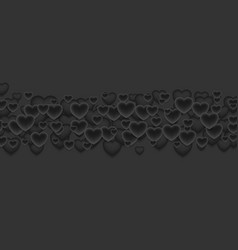 Abstract black valentines day hearts background vector