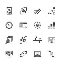 Big data concept icons set vector