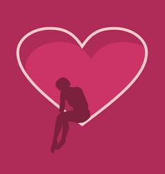 broken love metaphor vector image