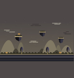 Brown background at night scenery for game vector