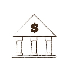 Building bank money finance sketch vector