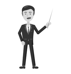 Businessman with pointer icon vector