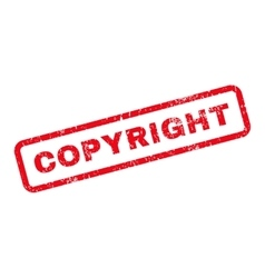 Copyright text rubber stamp vector