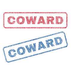 Coward textile stamps vector