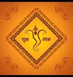 Creative ganesh chaturthi festival greeting card vector