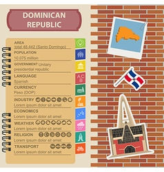 Dominican republic infographics statistical data vector image vector image