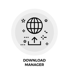 Download Manager Line Icon vector image vector image