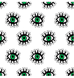 eyes patches seamless pattern vector image vector image