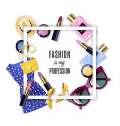 Fashion Concept Set vector image vector image
