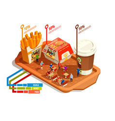 food court infographic concept vector image vector image