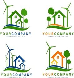 Green eco electricity vector