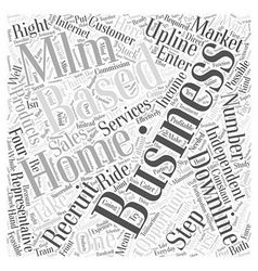 Home based mlm business opportunity business word vector