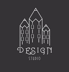 House of pencils idea logo of art studio vector image