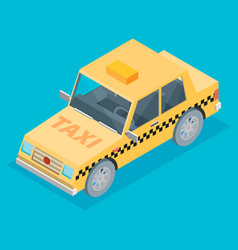 isometric taxi cab vector image vector image