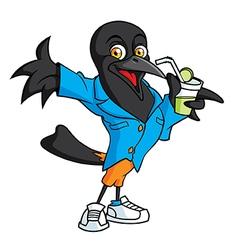Mascot bird vector
