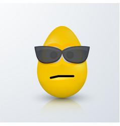 modern easter emoji egg with shadow vector image