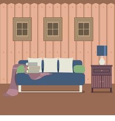Modern Flat Design Sofa Interior vector image vector image