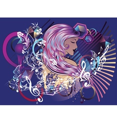 Music Girl5 vector image vector image