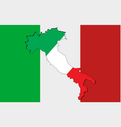 national italy flag vector image