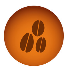 orange emblem grains coffee icon vector image vector image