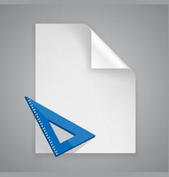 Paper symbol ruler vector