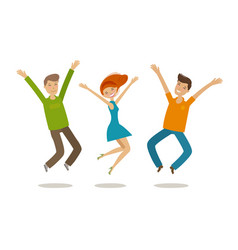 People celebrating party jubilation concept vector
