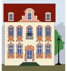Romantic old town house vector