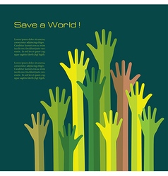 Save a World Conceptual background vector image vector image