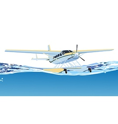 seaplane on the sea vector image vector image
