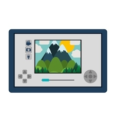 Touch screen for drone camera vector
