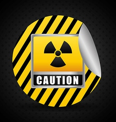 Warning sign design vector